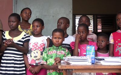 Change Care Foundation donated school supplies to over 100 internally displaced persons in Douala Cameroon